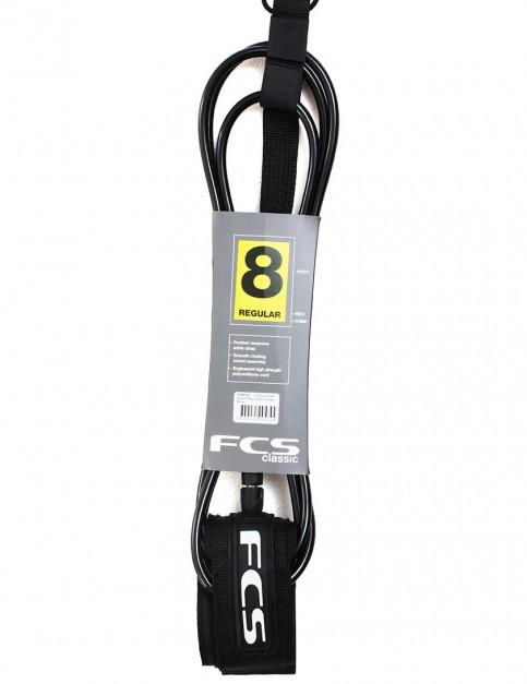 FCS Regular Classic 8ft surf leash - Black