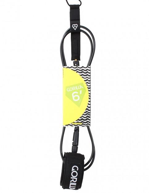 Gorilla Comp Classic surf leash 6ft - Black