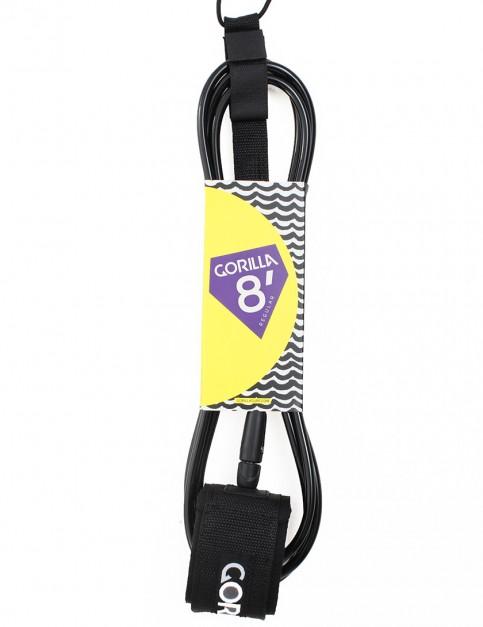 Gorilla Regular Classic surf leash 8ft - Black