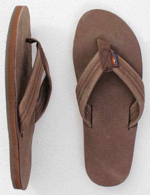Rainbow Sandals Premier Leather Single Layer Arch Flip flops - Expresso