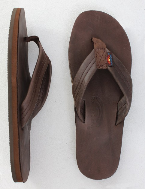 Rainbow Sandals Classic Leather Single Layer Arch Flip flops - Mocha