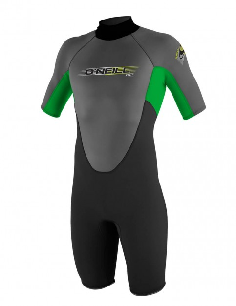 O'Neill Reactor Shorty 2mm wetsuit 2016 - Black/Clean Green/Graphite