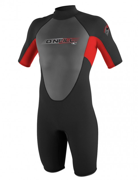 Oneill Wetsuits Youth Reactor Spring Shorty 2mm Summer 2015 - Black/Red/Black