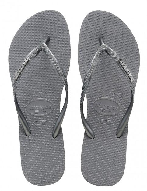 Havaianas Slim Ladies flip flops - Steel Grey