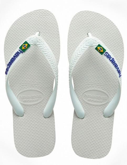 Havaianas Brasil Logo Flip Flop - White