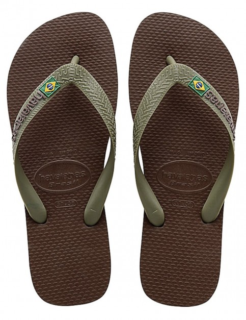 Havaianas Brasil Logo Flip flops - Dark Brown