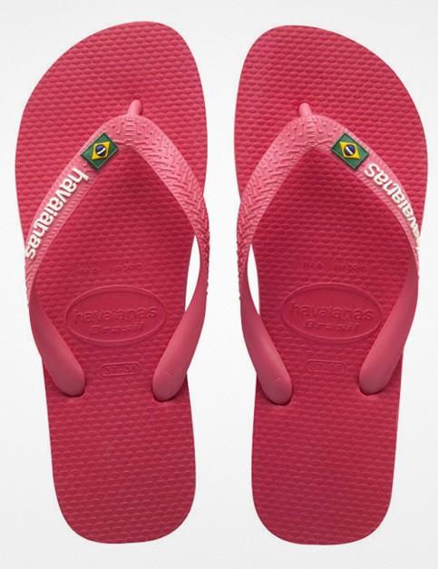 Havaianas Brasil Logo Flip Flop - Neon Pink