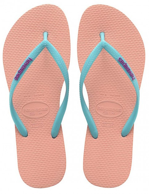 Havaianas Slim Logo Pop-Up Ladies flip flops - Light Pink