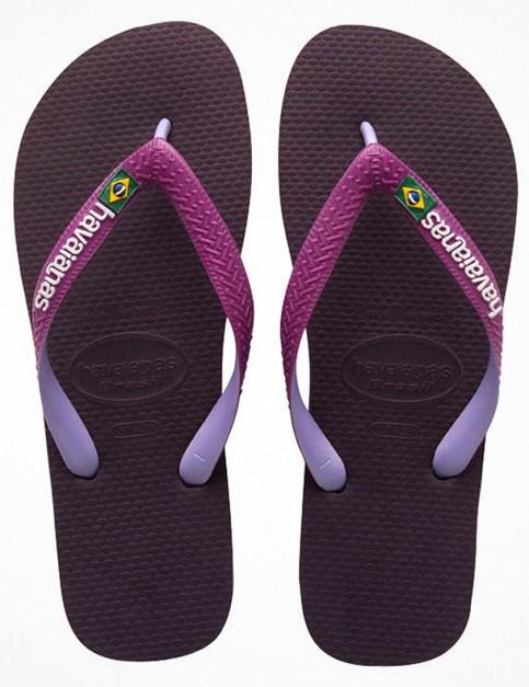 Havaianas Brasil Mix Flip Flop - Aubergine
