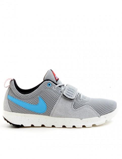 Nike SB Trainerendor Shoes - Base Grey/Vivid Blue