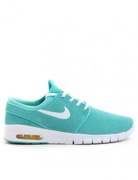 Nike SB Stefan Janoski Max L Shoes - Hyper Jade/White