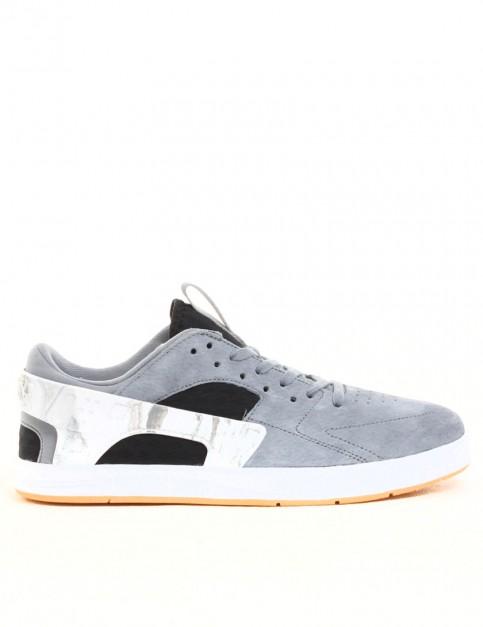Nike SB Eric Koston Huarache Shoes - Grey/Black/White/Gum