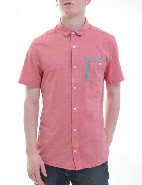 Volcom Chambro Oxford Short sleeve shirt - Drip Red