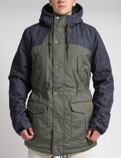 Volcom Starget Nuts Parka jacket - Fatigue Green