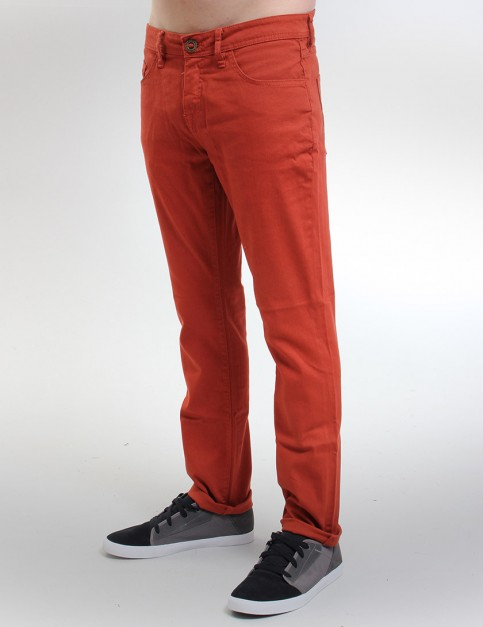 Volcom Vorta Colour Tight fit jeans - Maple