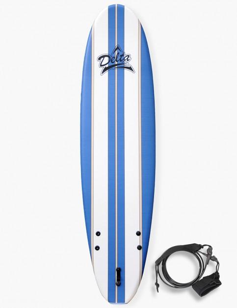 Alder Delta Stringers Soft Surfboard 7ft 6 - Blue Stripe