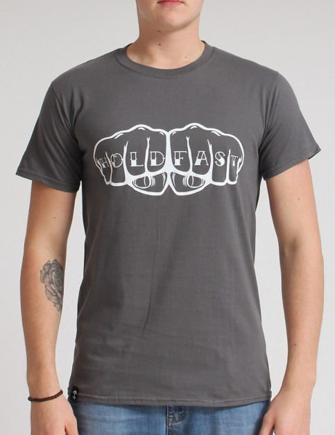 Hold Fast Knuckles T shirt - Charcoal