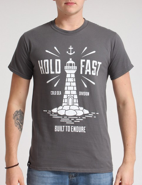 Hold Fast Lighthouse T shirt - Charcoal