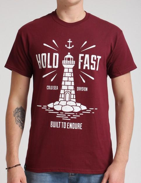 Hold Fast Lighthouse T shirt - Merlot