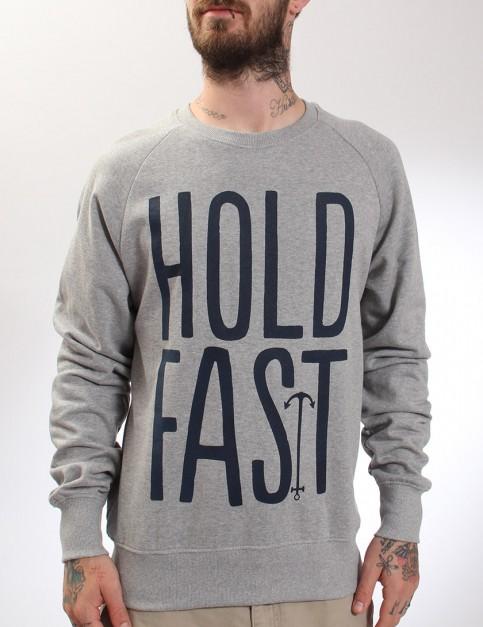 Hold Fast Logo Crew neck sweatshirt - Grey