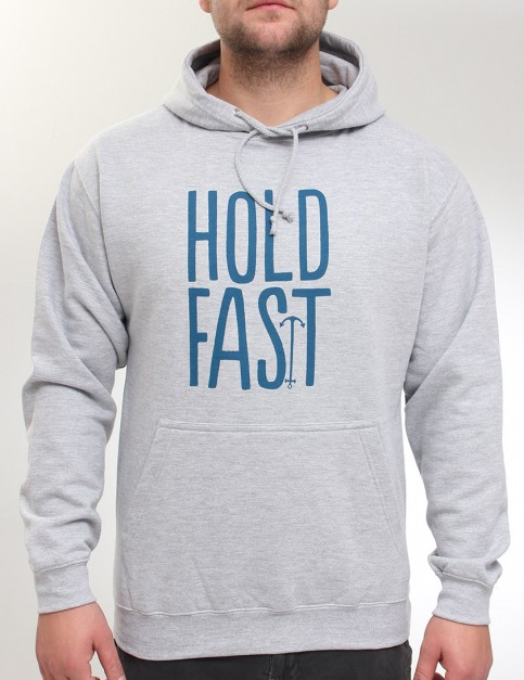 Hold Fast Logo Hoody - Heather Grey
