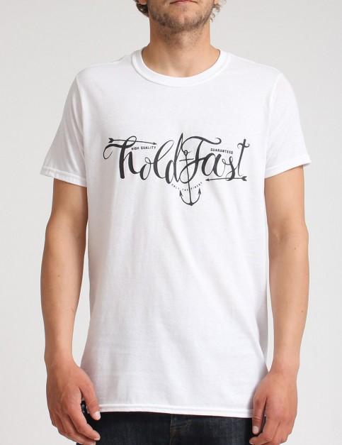 Hold Fast Script T shirt - White
