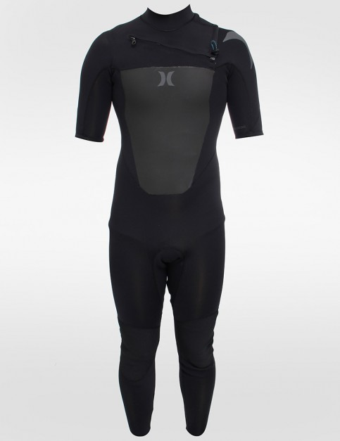 Hurley Wetsuits Fusion Short Sleeve Chest Zip 2/2mm Summer wetsuit - Black