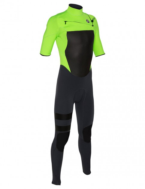 Hurley Wetsuits Fusion Short Sleeve Fullsuit 2/2mm Summer 2015 - Flash Lime