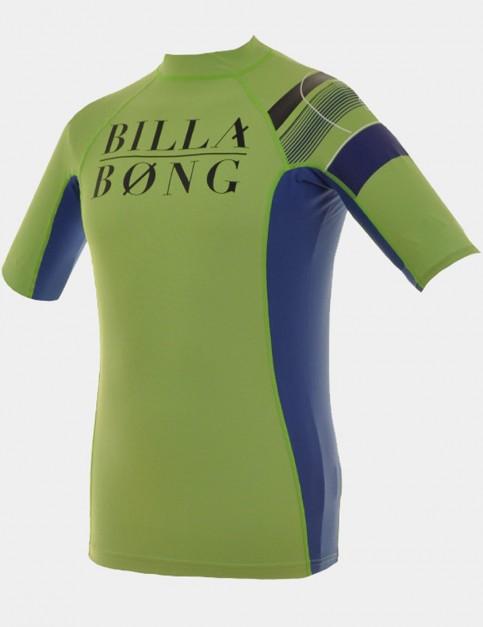 Billabong Wetsuits Edge Short Sleeve Kids rash vest - Neon Green