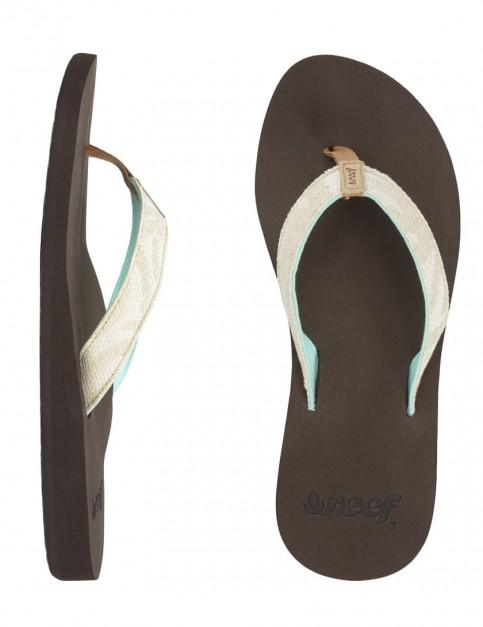 Reef Calidora Ladies flip flops - Natural Palms
