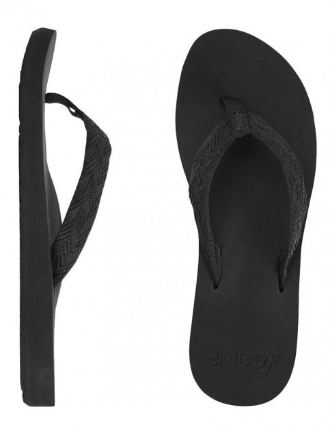 Reef Mid Seas Ladies flip flops - Black/Black