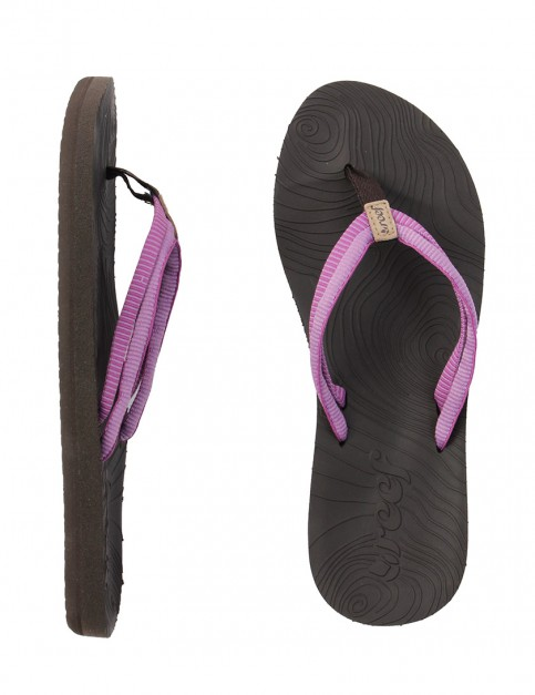 Reef Double Zen Ladies Flip flops - Brown/Purple