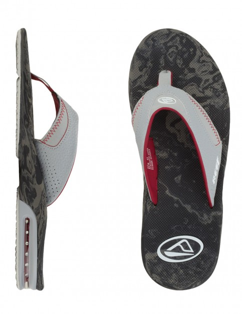 Reef Fanning Prints Flip flops - Black/Grey Wood