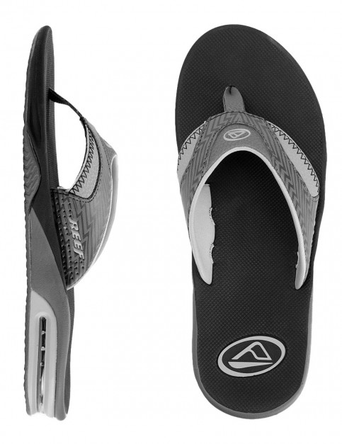 Reef Fanning Prints Flip flops - Black/Lightning