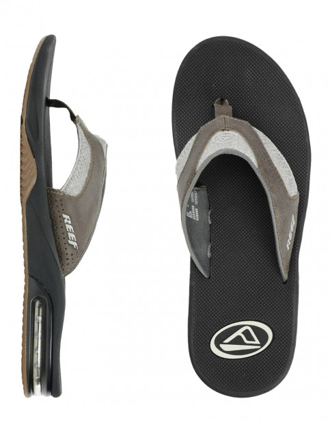 Reef Fanning TX Flip flops - Black/Dark Grey