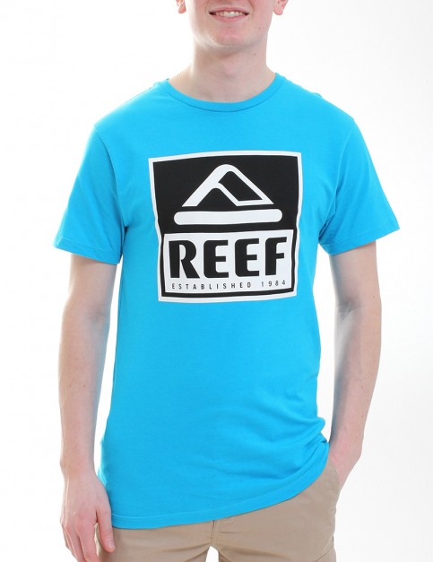 Reef Classy Block T shirt - Turquoise