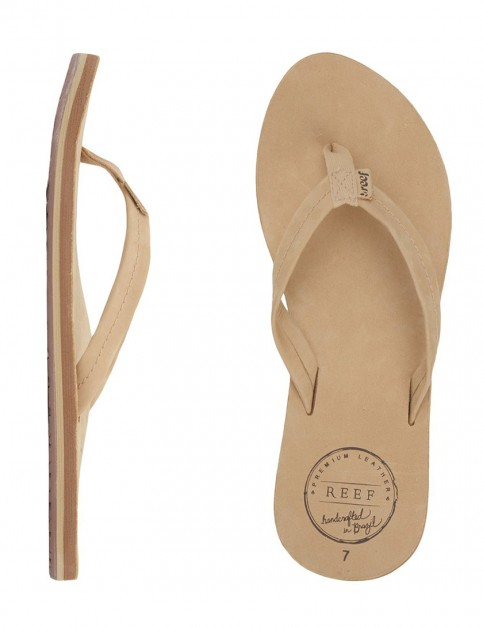Reef Chill Leather Ladies Flip flops - Tan