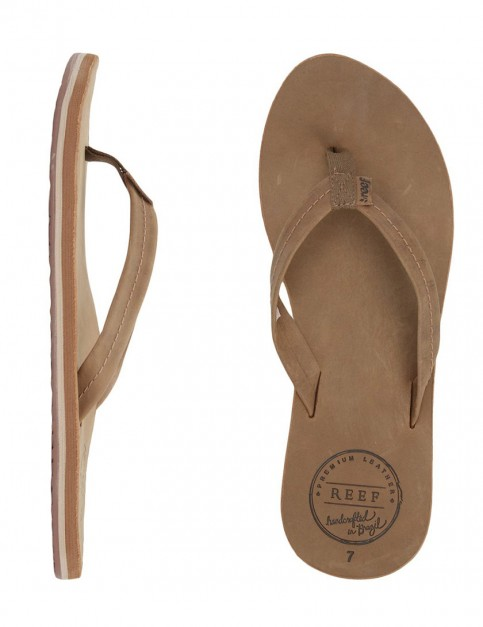 Reef Chill Leather Ladies Flip flops - Tobacco