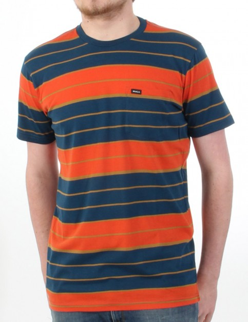 RVCA Diffide T shirt - Red Clay