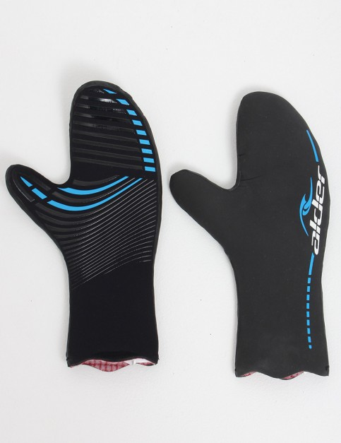 Alder Plasma FastDry Lined Mitt 4.5mm Wetsuit gloves - Black