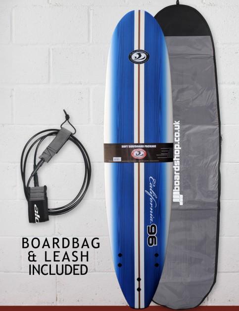 California Board Company Ninety Six Surfboard Package 8ft - Royal Blue Grain