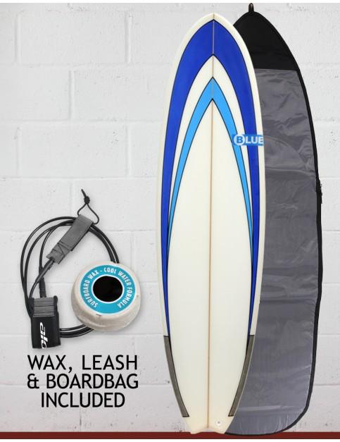 Blue Dot Fish Surfboard Package 6ft 3 - Blue Nose