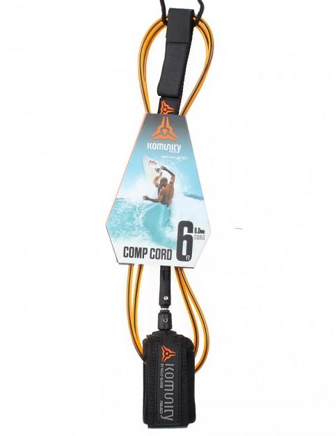 Komunity Project Comp Cord surf leash 6ft - Orange