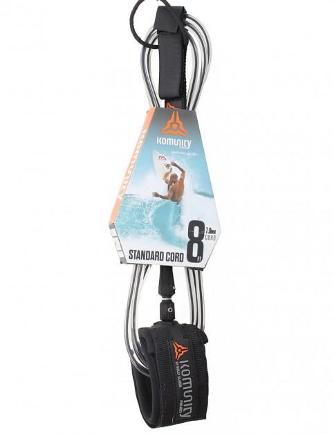 Komunity Project Standard Cord surf leash 8ft - Black