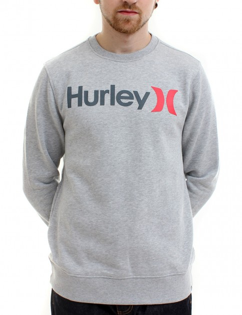 Hurley One and Only crew neck sweatshirt - Heather Grey