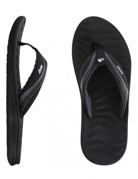 Reef Phantom Flight Flip flops - Black/Silver