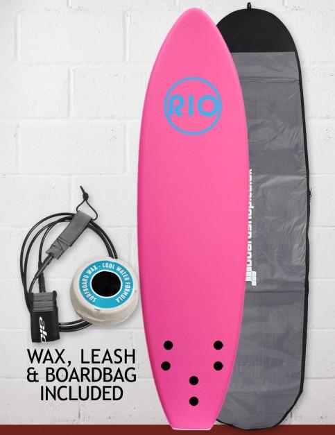Alder Rio Soft Surfboard Package 7ft 0 - Pink