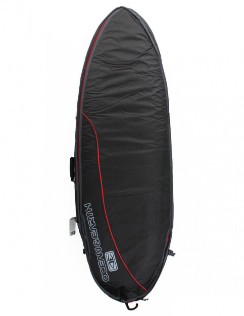 Ocean & Earth Fish Double Wide 10mm Surfboard Bag 6ft 8 - Black/Red