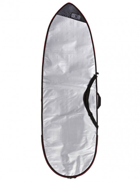 Ocean & Earth Barry Basic Fish Cover 5mm Surfboard bag 7ft 6 - Silver