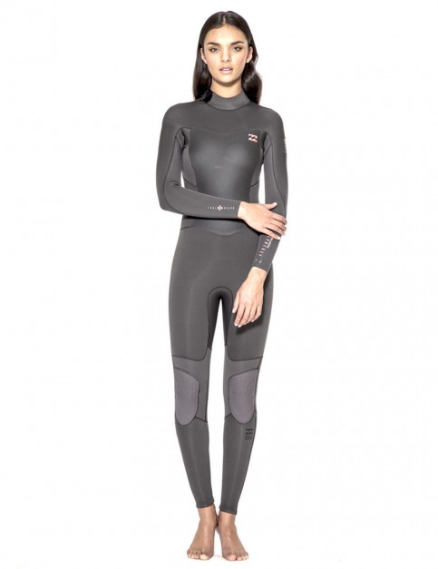 Billabong Ladies Synergy Back Zip 5/4mm Wetsuit 2016 - Off Black